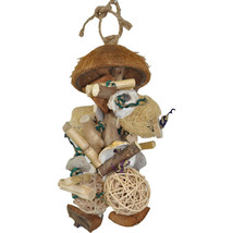A&E Cage Assorted Java Wood Java Bush Bird Toy 7x9 In 644472111231 - £23.35 GBP