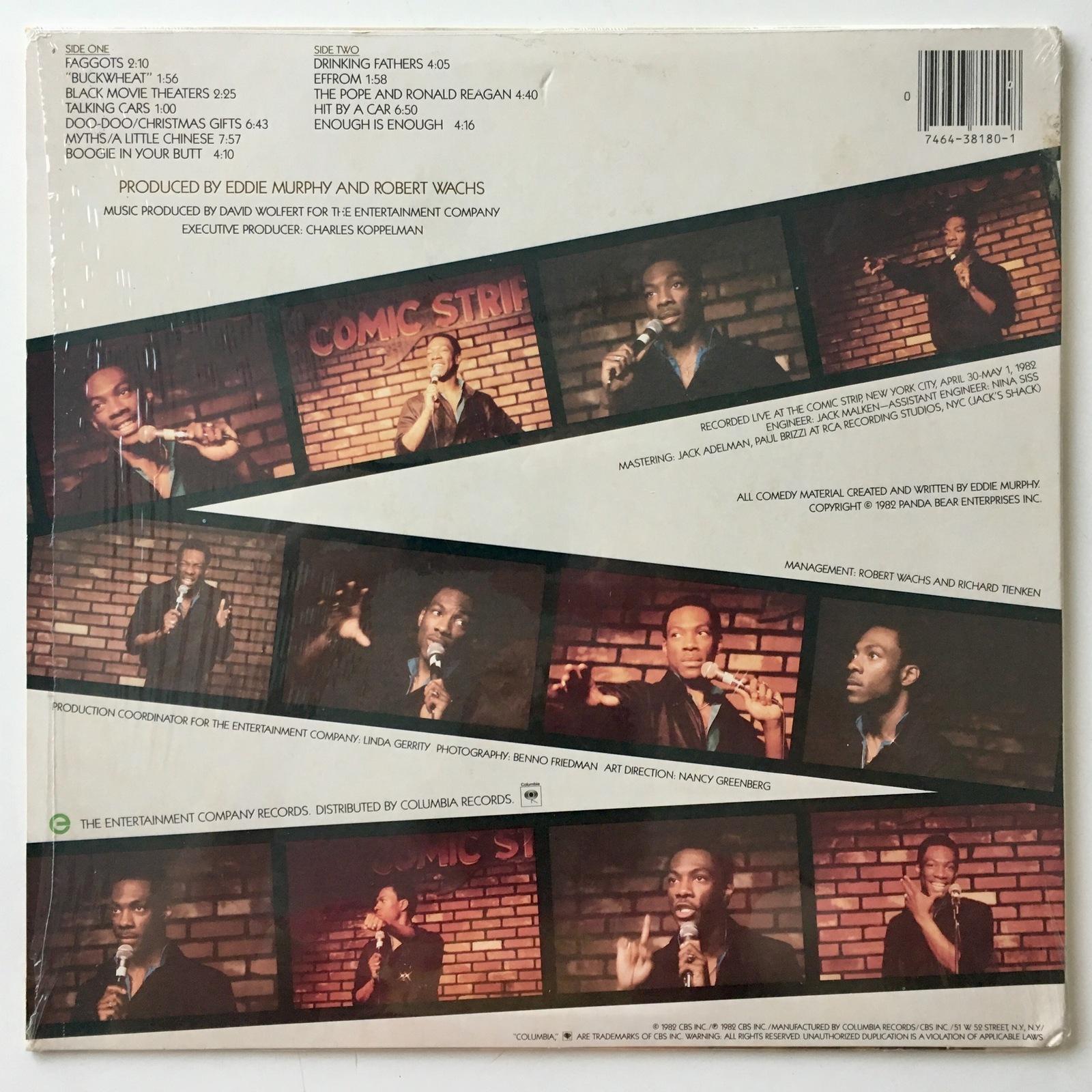 Eddie Murphy LP Vinyl Record Album, Columbia – FC 38180, Comedy