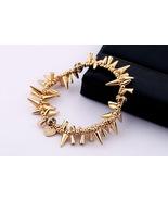 Fashion Designer Inspired Gold & Silver Renegade Cluster Stretch Bracele... - $17.08