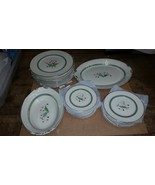 OLD IVORY SYRACUSE CHINA CORALBEL PLATES SERVING BOWLS DISHES PLATINUM S... - $197.01