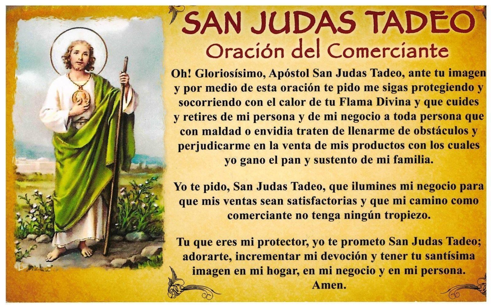 SAN JUDAS TADEO - Oracion del Comerciante - L340.0004