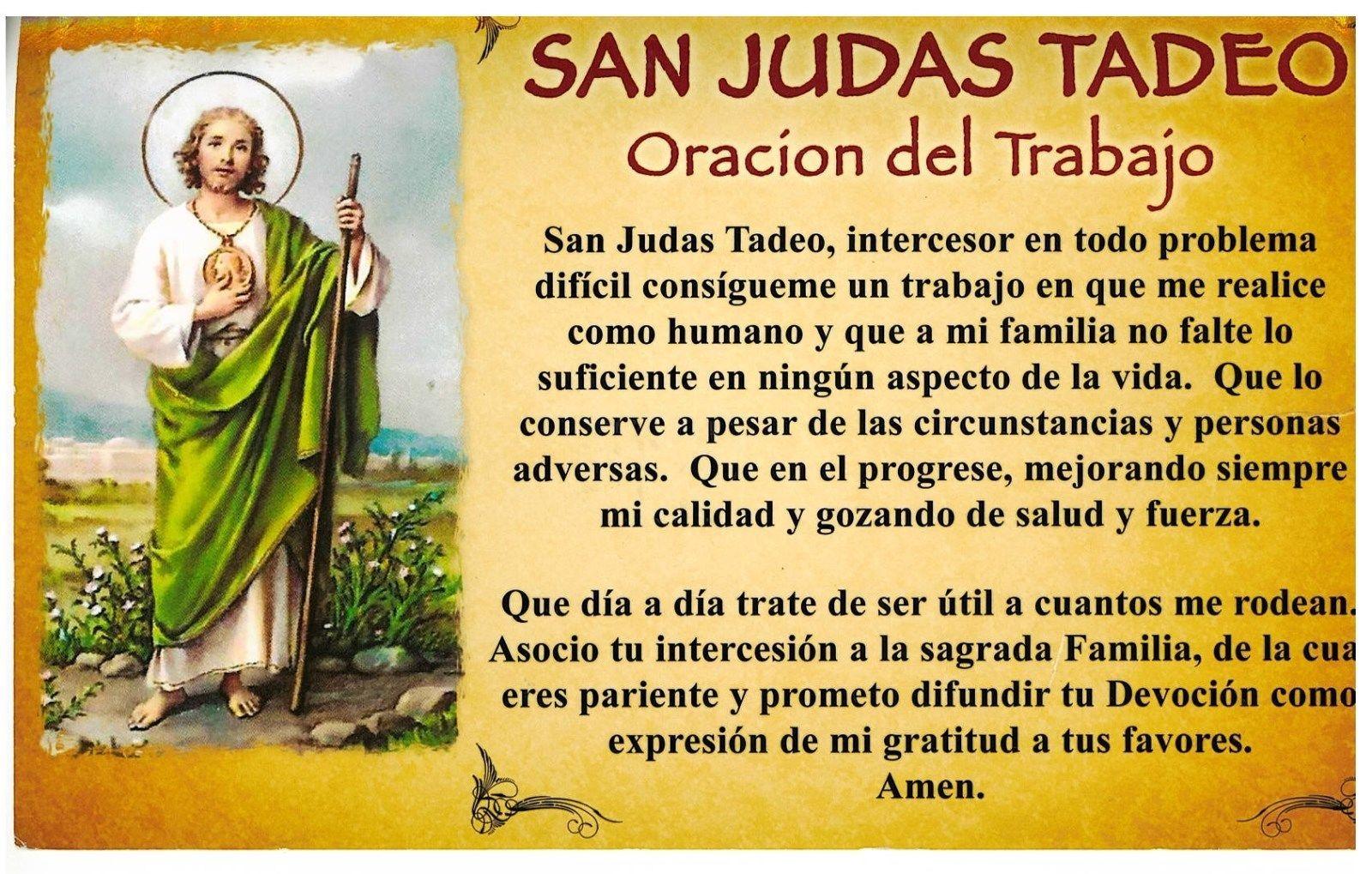 SAN JUDAS TADEO - Oracion del Tadajo - 01170