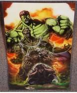Marvel The Incredible Hulk Glossy Print 11 x 17 In Hard Plastic Sleeve - $24.99
