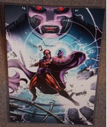 Marvel X-Men Magneto vs Sentinel Glossy Print 11 x 17 In Hard Plastic Sl... - $24.99