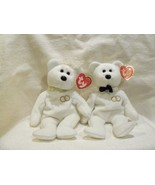 Ty Beanie Babies Mr and Mrs Bears Mint 2001 Set of 2 - $6.25