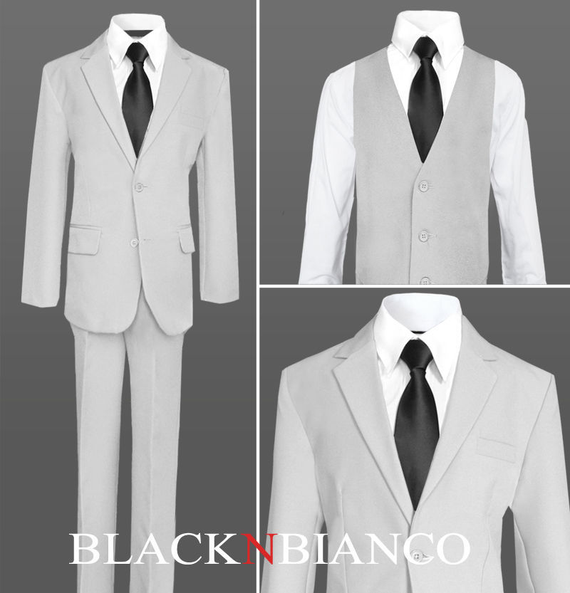007bfce31b Light Grey Boys Suit with a Black Long Neck and 23 similar items