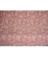 1-1/2Y STROHEIM ROMANN 787313 SCULPTURED FLORAL CHENILLE UPHOLSTERY FABRIC - $21.29