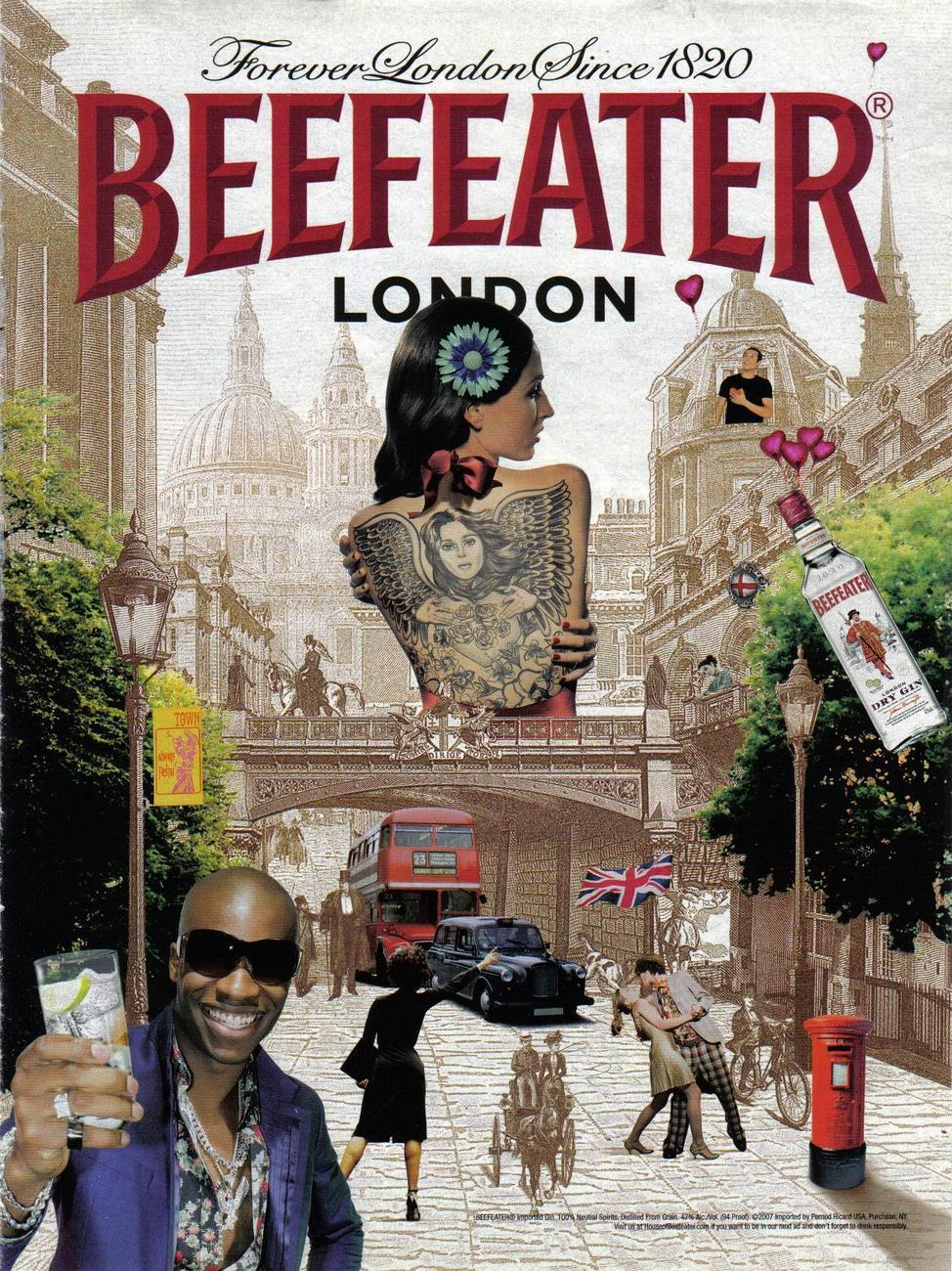 Beefeater Gin Full Page Color Print Ad - Original - Near Mint Beefeater