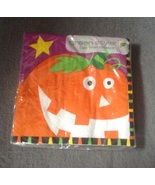 Halloween Starry Pumpkin Jack-o-lantern Beverage Napkins pack of 18 Purple - $3.50