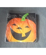Halloween Black Pumpkin Jack-o-lantern Beverage Napkins pack of 18 Purple - $3.50