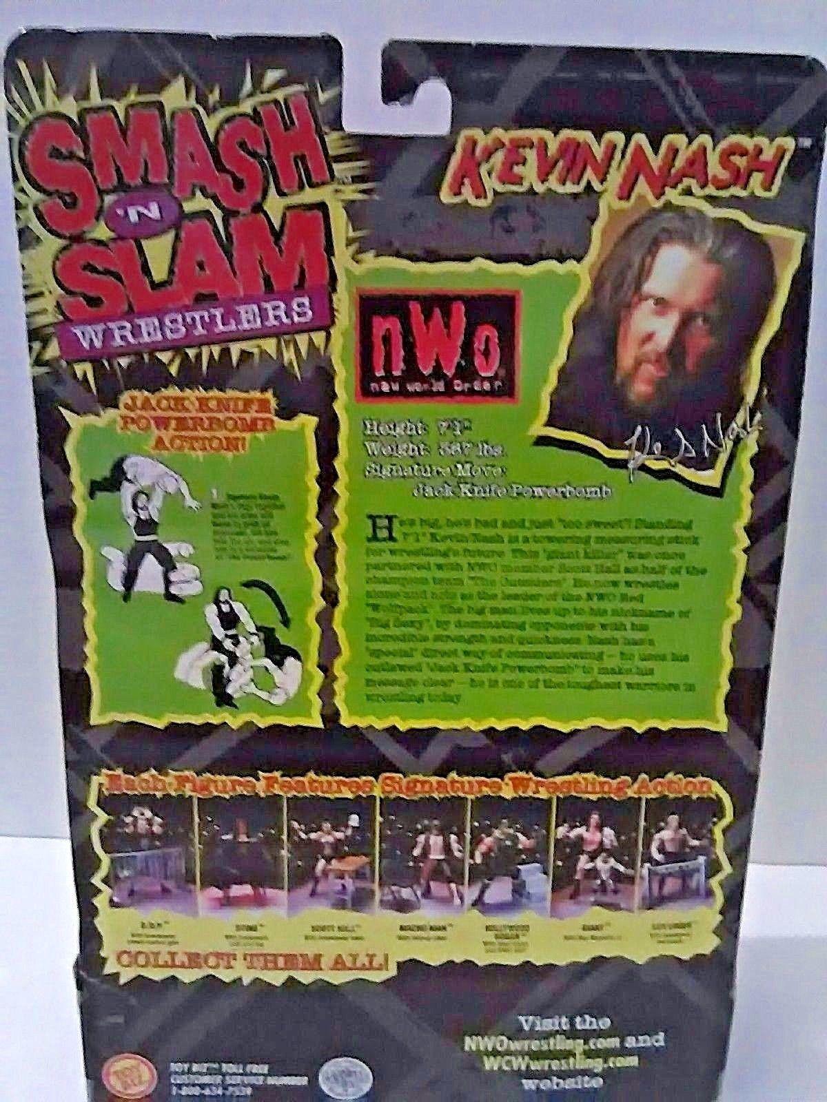 NWO Kevin Nash with Referee Accessory Figure Wrestler Power Bomb WCW Toy Biz