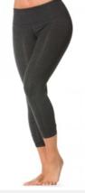Hard Tail New Charcoal Black Flat waist capri legging xs   - $64.99