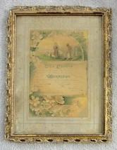 1907 antique MARRIAGE CERTIFICATE~CHAS.LEFEVER/LILLIE SHERMAN lancaster ... - $84.95