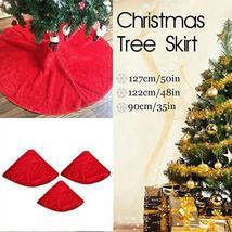 Snowflake Christmas Tree Skirt Base Floor Mat Cover 90/122/127cm Long Re... - $27.72