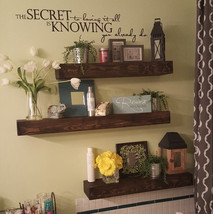 Wood Floating Shelf  Rustic Design  20 Finish Colors Avail  Hand Made to... - $64.00
