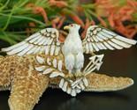 Vintage patriotic american eagle brooch pin enamel figural large thumb155 crop