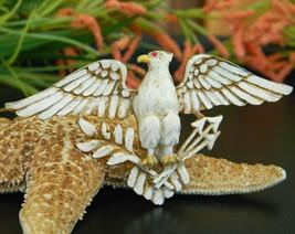 Vintage Patriotic American Eagle Brooch Pin Enamel Figural Large - $24.95