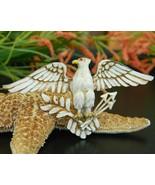 Vintage Patriotic American Eagle Brooch Pin Ena... - $24.95