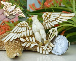 Vintage Patriotic American Eagle Brooch Pin Enamel Figural Large image 3