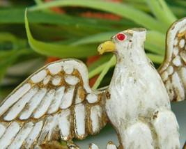 Vintage Patriotic American Eagle Brooch Pin Enamel Figural Large image 4