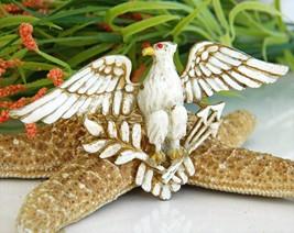 Vintage Patriotic American Eagle Brooch Pin Enamel Figural Large image 2