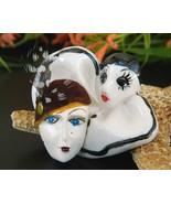 2 Vintage Face Brooch Pin Harlequin Clown Flapp... - $13.95