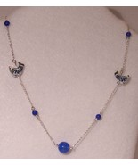 Porcelain Fish & Blue Glass Beads Necklace - $18.00