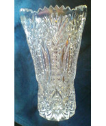 Vintage Glass Lead Crystal Vase Diamond Cut RARE Sovereign House Crystal... - $78.99