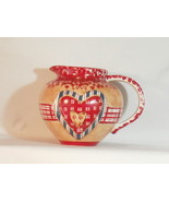 LOVE PITCHER WITH HEART DESIGN - RED AND BLUE - $10.00