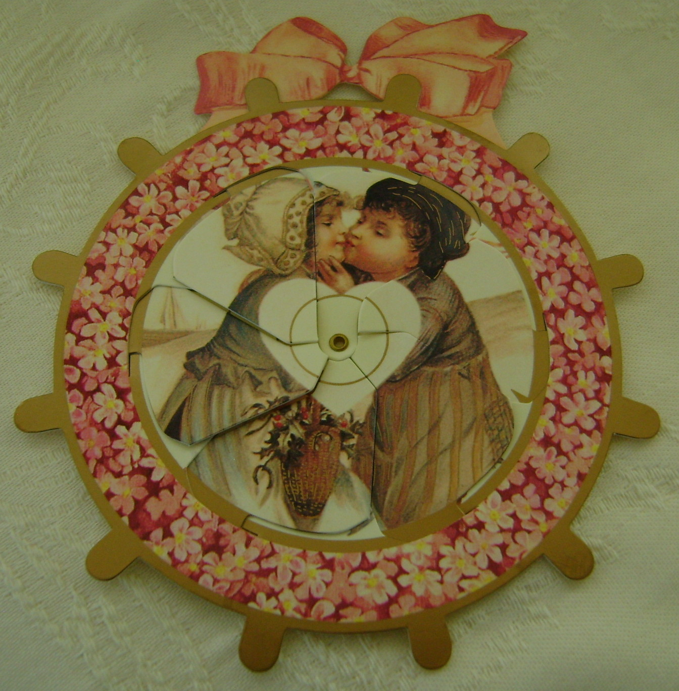 Valentine, B. Shackman, Reproduction Victorian 2-Way Picture, Die Cut