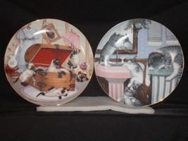 SET OF 2 HAMILTON KITTEN PLATES BY GRE GERARDI - $17.50