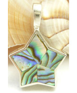 Sterling Silver Inlay Abalone Star Shape Pendan... - $38.00