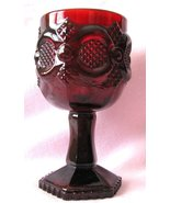 Avon Cape Cod Ruby Red Glass Wine Goblet Candle... - $12.00