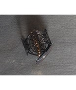 Black Metal Spider Web Cuff Bracelet Halloween Adult Gothic - $6.99
