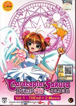 DVD ANIME CARDCAPTOR SAKURA Vol.1-70End + 2 Mov... - $29.99