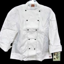 Dickies Executive Chef White Black Coat Jacket Uniform CW070302 34 Unise... - $39.17