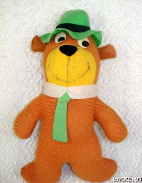 1980 Hanna Barbera Plush YOGI BEAR Doll by Mighty Star 9