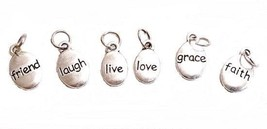Inspirational Awareness Word Charms faith laugh grace friend love live S... - $6.83