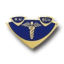 RN BSN Lapel Pin Insignia Emblem Registered Nurse Graduation Pinning 500... - $13.55