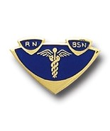 RN BSN Lapel Pin Insignia Emblem Registered Nurse Graduation Pinning 500... - $13.55
