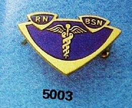 RN BSN Lapel Pin Insignia Emblem Registered Nurse Graduation Pinning 5003 New image 3