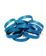 Teal IMPERFECT  Bracelets 50 Piece Lot Silicone Wristband Jelly Cancer C... - $25.97