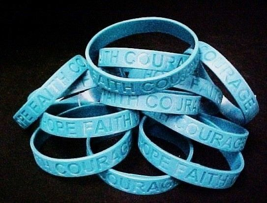 Teal IMPERFECT  Bracelets 50 Piece Lot Silicone Wristband Jelly Cancer Cause New