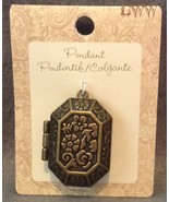 New Large Metal Octagon Rectangular Necklace Locket Pendant Charm - $6.99
