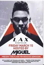 MIGUEL @ LAX Nightclub Luxor Las Vegas Promo Card - $3.95