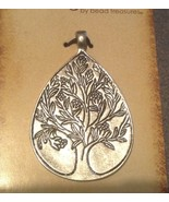 Fairy Tale Fantasy Tear Drop Engraved Tree Necklace Pendant - $7.99