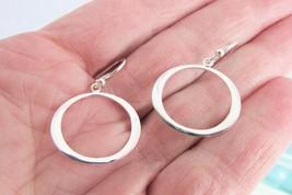 925 LA Sterling Oval Gypsy Hoop Earrings Delicate Lightweight Pierced Fish Hook - $19.79