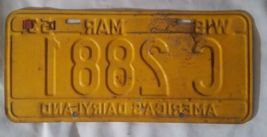 1953 54 Tags WIS Wisconsin license plate  image 3