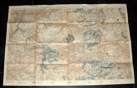 Antique 1930's Italy Map TCI Carta Italia Val Garderna Cantinaccio Marmolada