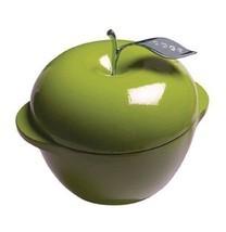 Green Apple Cast Iron Dutch Oven Pot Lid Enamel 3 Quart Cookware Valenti... - $97.99